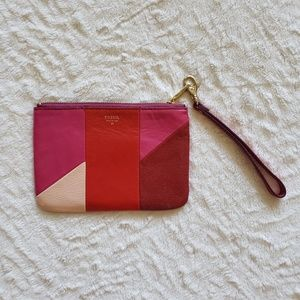 NWT Fossil Patchwork Clutch Wristlet Wallet